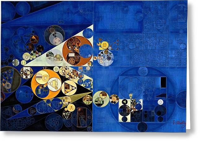 Abstract Painting - Oxford Blue Greeting Card by Vitaliy Gladkiy