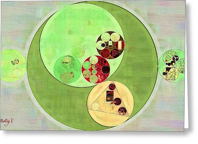 Abstract Painting - Pale Leaf Greeting Card by Vitaliy Gladkiy