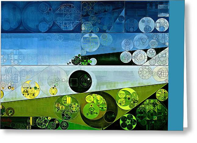 Abstract Painting - Laminaria Greeting Card
