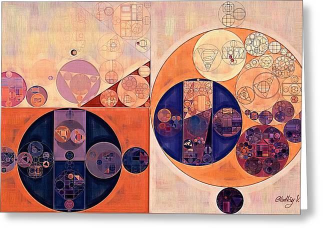 Abstract Painting - Red Damask Greeting Card by Vitaliy Gladkiy