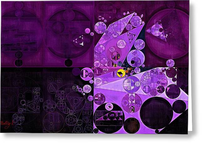 Abstract Painting - Rich Lilac Greeting Card