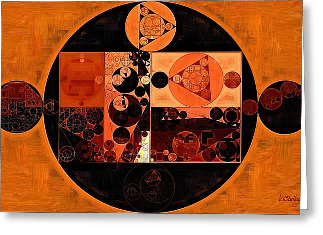 Abstract Painting - Rust Greeting Card by Vitaliy Gladkiy