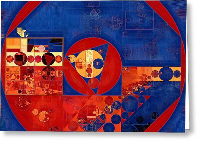 Abstract Painting - Saint Patrick Blue Greeting Card by Vitaliy Gladkiy