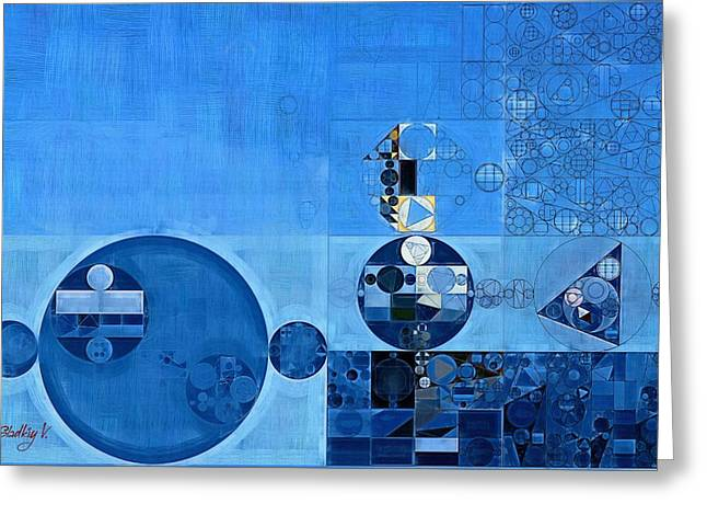 Abstract Painting - Tufts Blue Greeting Card