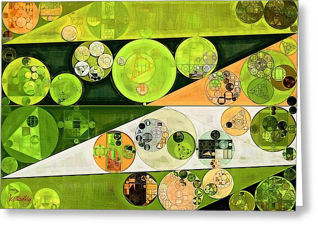 Abstract Painting - Turtle Green Greeting Card by Vitaliy Gladkiy