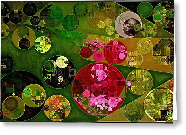 Abstract Painting - Twine Greeting Card by Vitaliy Gladkiy