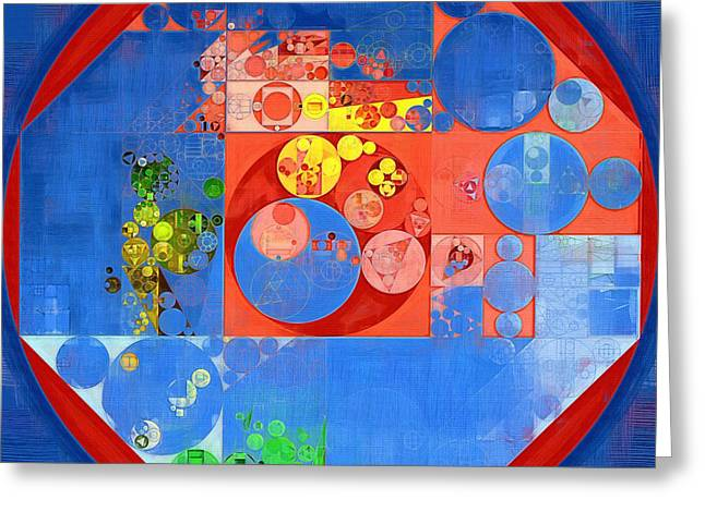 Abstract Painting - United Nations Blue Greeting Card by Vitaliy Gladkiy