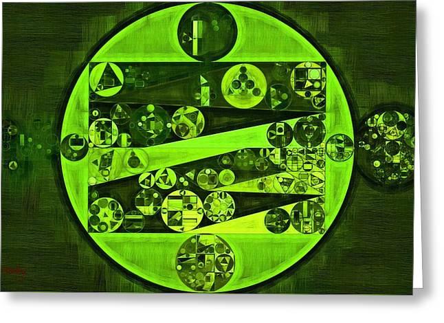 Abstract Painting - Verdun Green Greeting Card by Vitaliy Gladkiy