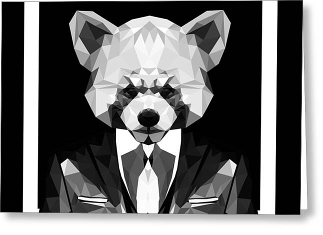 Abstract Panda Greeting Card by Gallini Design