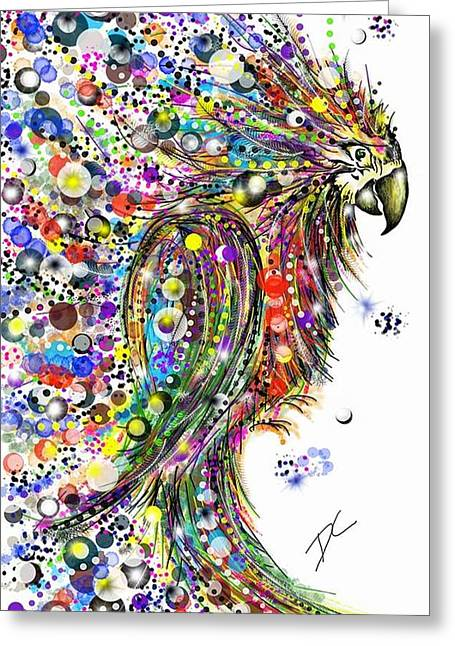 Abstract Parrot Greeting Card