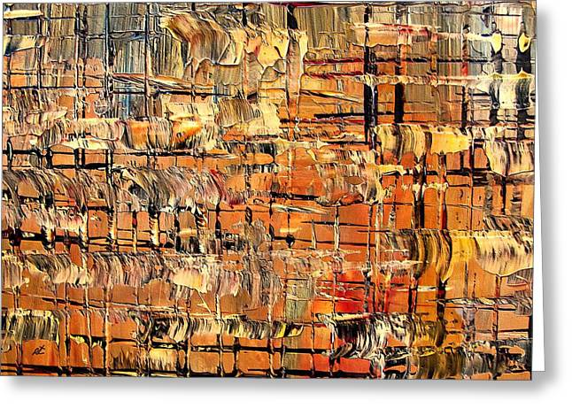 Abstract Part By Rafi Talby Greeting Card by Rafi Talby