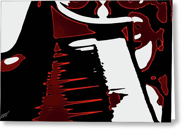 Abstract Piano Greeting Card