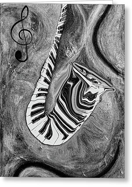 Piano Keys In A Saxophone 1 - Music In Motion Greeting Card