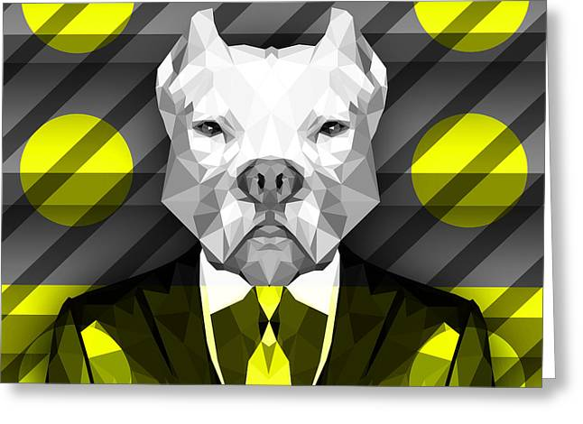 Abstract Pitbull 5 Greeting Card by Gallini Design