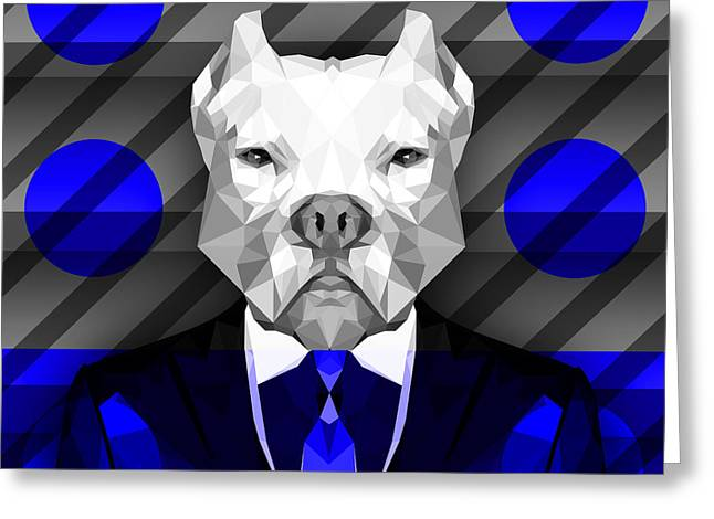 Abstract Pitbull 6 Greeting Card by Gallini Design