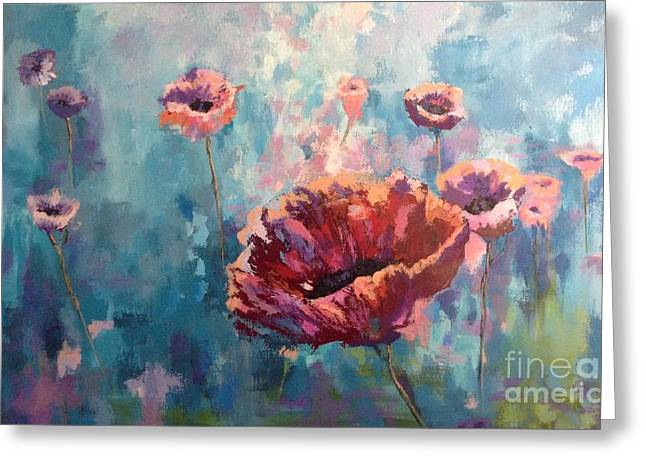 Abstract Poppy Greeting Card