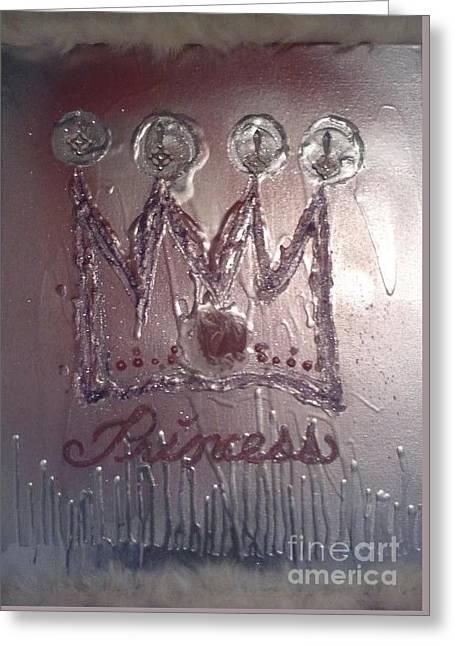 Abstract Princess Dreams Of Grandeur Greeting Card by Talisa Hartley