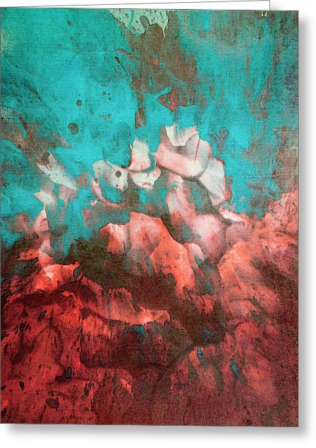 Abstract Print 1115 Greeting Card by Filippo B
