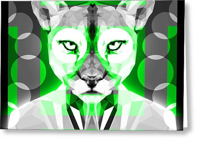 Abstract Puma 2 Greeting Card