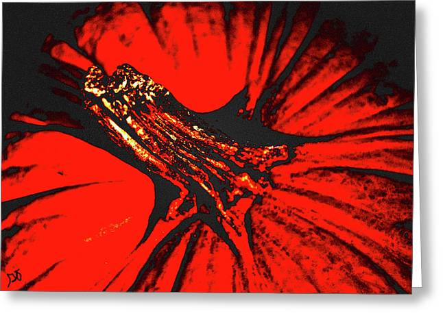 Abstract Pumpkin Stem Greeting Card