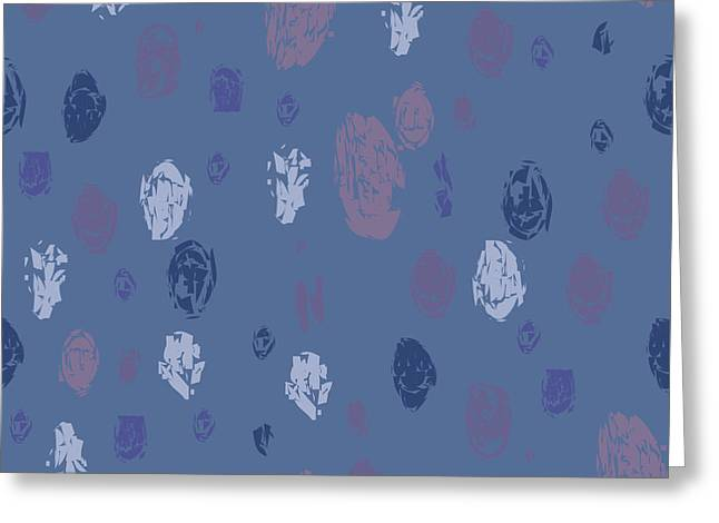 Abstract Rain On Blue Greeting Card