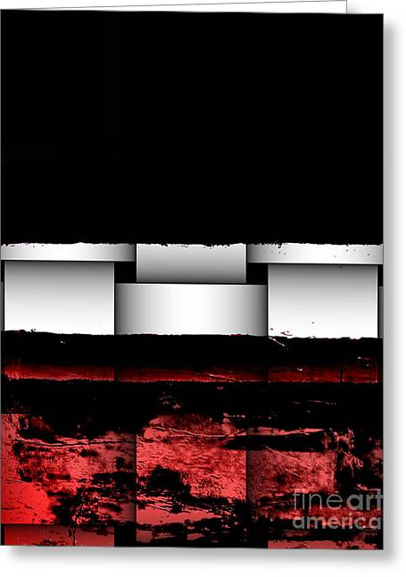 Abstract Red And Black Ll Greeting Card by Marsha Heiken