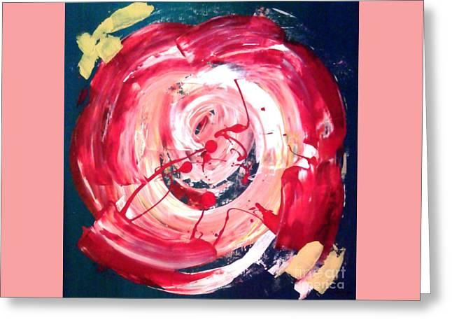 Abstract Red Rose Greeting Card by Jay Anthony Gonzales