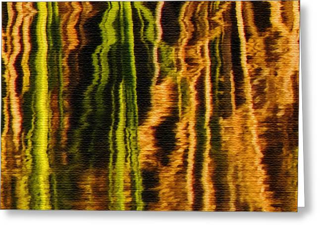 Abstract Reeds Triptych Middle Greeting Card