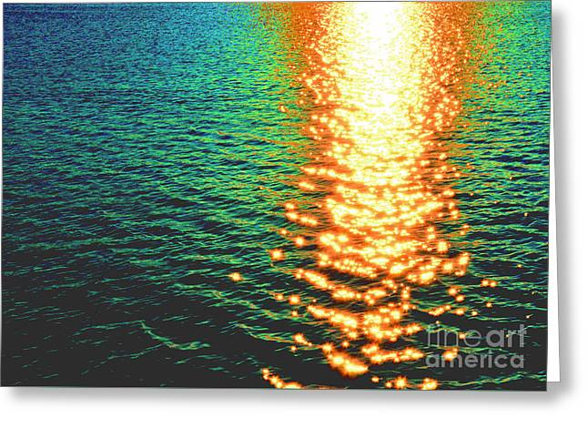 Abstract Reflections Digital Painting #5 - Delaware River Series Greeting Card