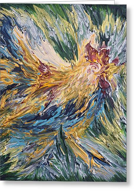 Abstract Guam Rooster Greeting Card
