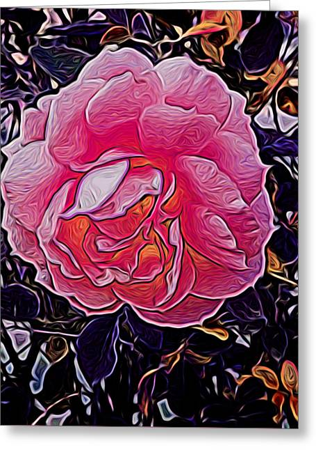Abstract Rose 11 Greeting Card