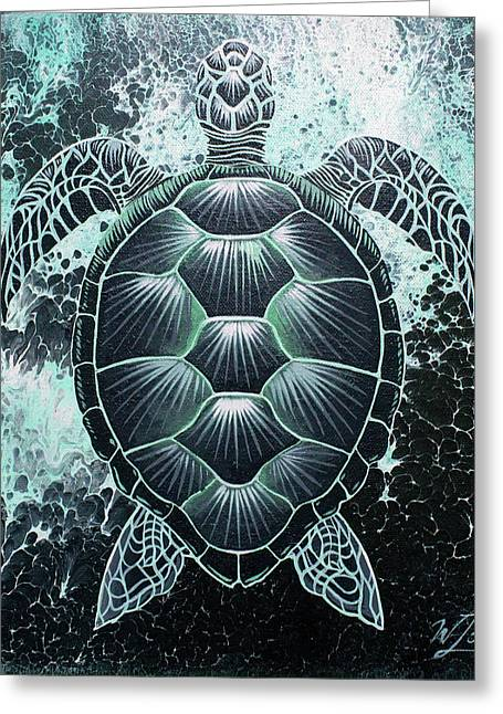 Abstract Sea Turtle Greeting Card