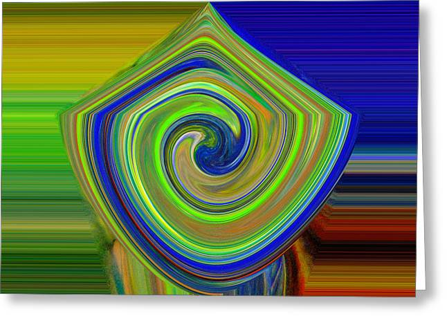 Abstract Shapes And Swirls Greeting Card by Jeff Swan