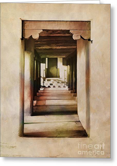 Abstract - Side Entrance Christo Rey Church Greeting Card