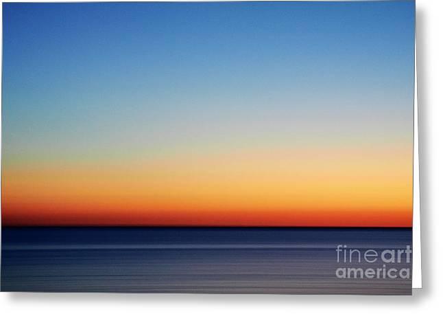 Abstract Sky Greeting Card by Tony Cordoza