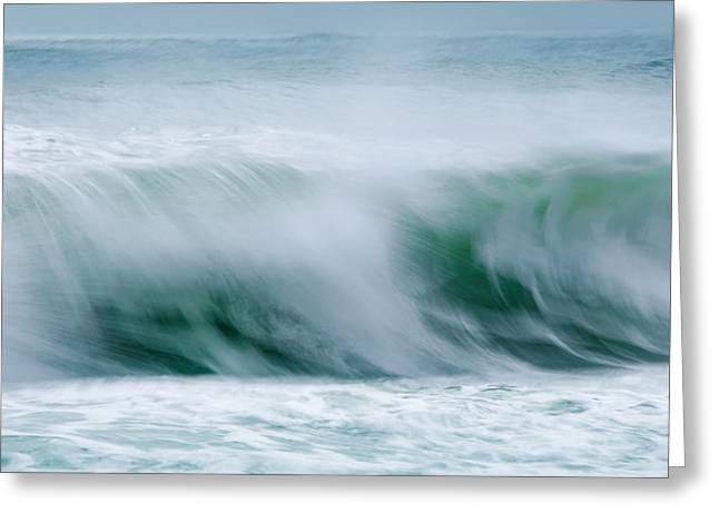 Abstract Soft Waves Greeting Card by Dapixara Art