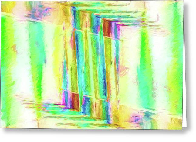 Abstract - Stained-glass Dreams Greeting Card