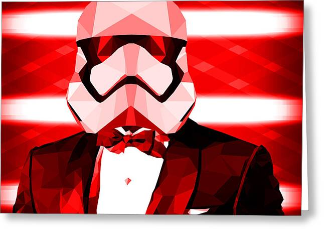 Abstract Stormtrooper Greeting Card