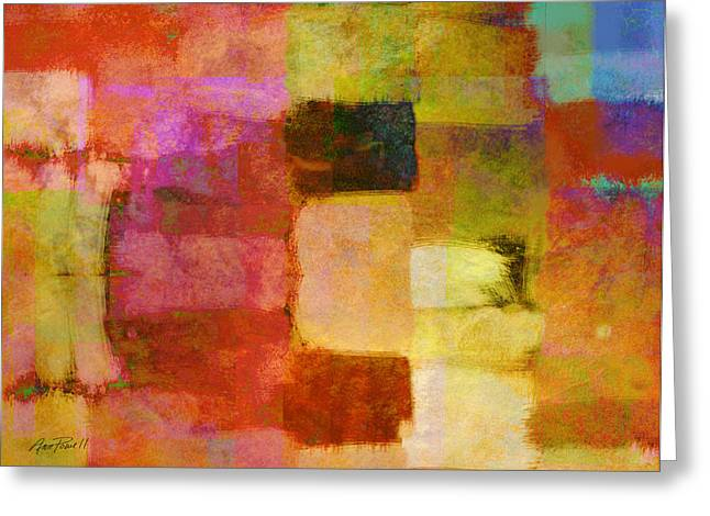 Abstract Study One Greeting Card by Ann Powell