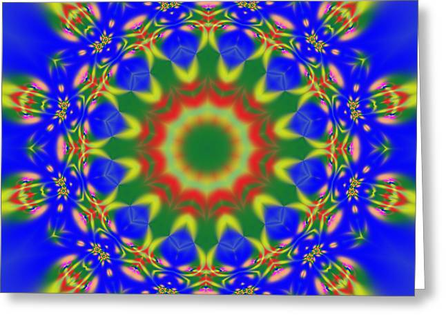 Abstract Sun 070908010102 Greeting Card by Rolf Bertram