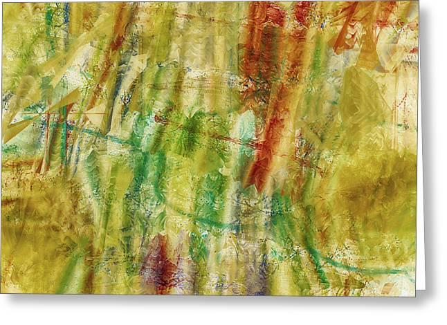 Greeting Card featuring the digital art Abstract Sunday by Deborah Benoit