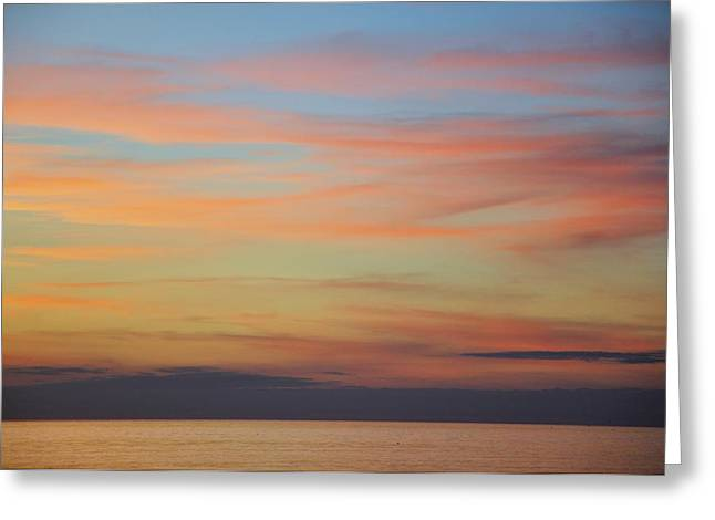 Abstract Sunset By Nature Greeting Card by Rose  Hill