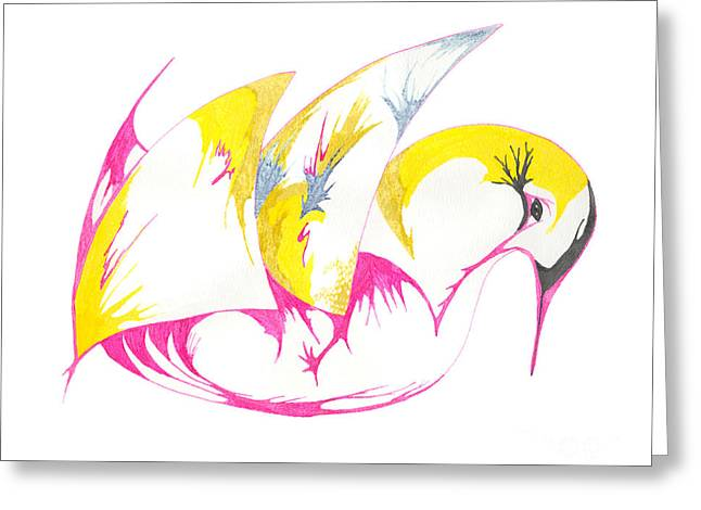 Abstract Swan Greeting Card