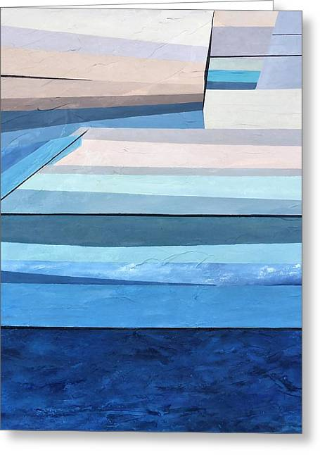 Abstract Swimming Pool Greeting Card