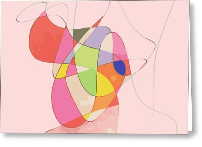 Abstract Swirls Greeting Card