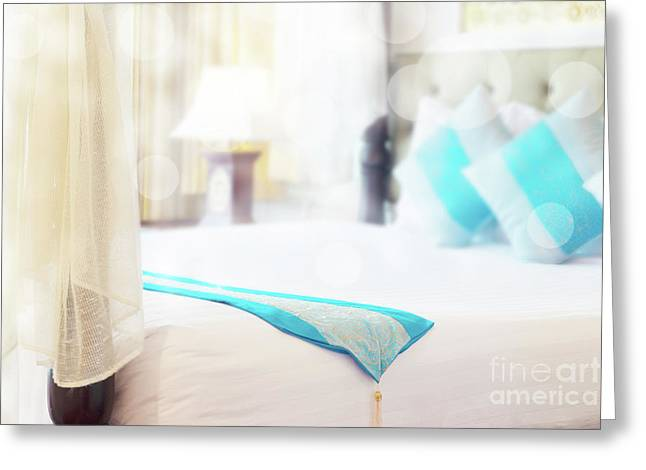 Abstract Thai Style Bedroom Greeting Card