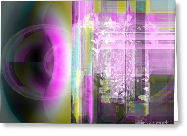 Abstract The Moment Greeting Card by Fania Simon