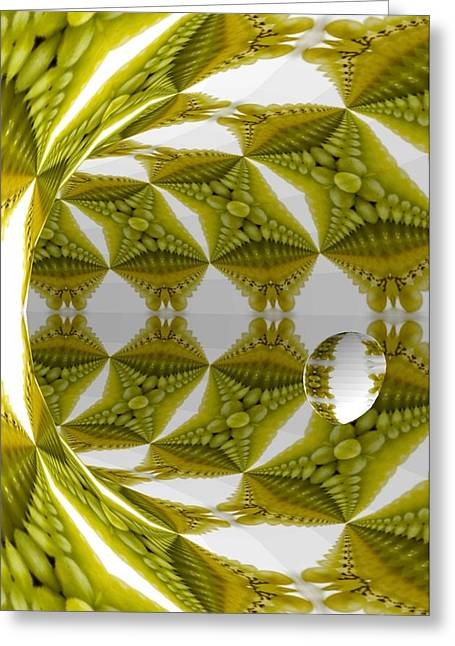 Abstract Tunnel Of Yellow Grapes  Greeting Card