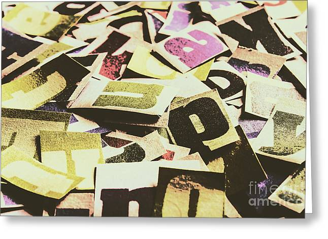 Abstract Typescript Greeting Card
