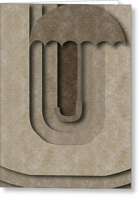 Abstract U Greeting Card
